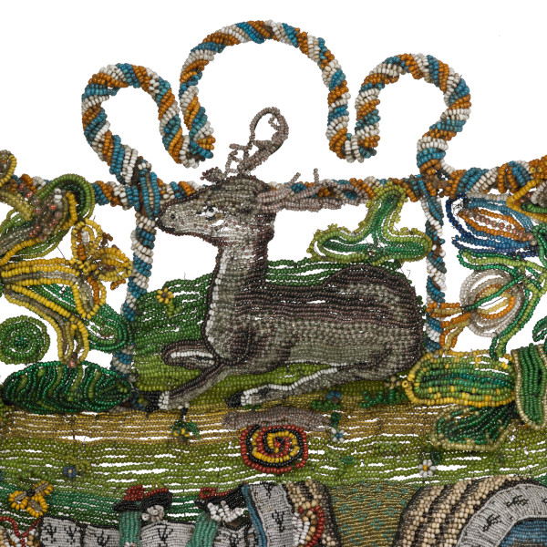 image bead tray deer detail